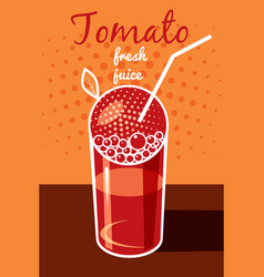 tomato juice is fresh flyer banner vector image