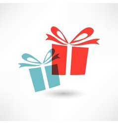 Two colored gifts vector image