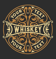 vintage design whiskey label style vector image