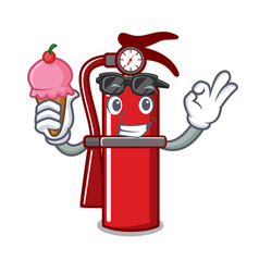 With ice cream fire extinguisher character cartoon vector