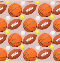 basketball ball activity leisure sport seamless vector image