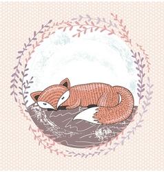 Cute little fox for children vector image