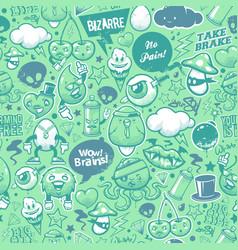 Graffiti seamless texture vector image vector image