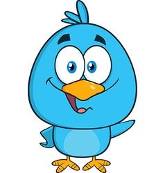 Happy Blue Bird Cartoon vector image vector image
