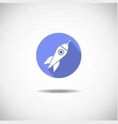 Roket icon vector image