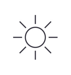 sun sign line icon sign on vector image