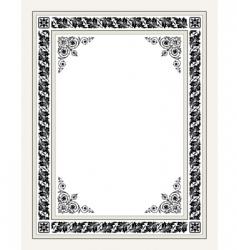 antique ornate frame vector image vector image
