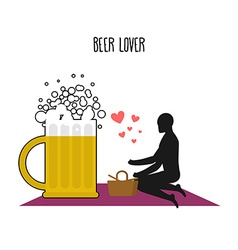 Beer lover Lovers on picnic Rendezvous in Park Mug vector image vector image