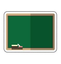 cartoon chalkboard eraser white chalk vector image vector image