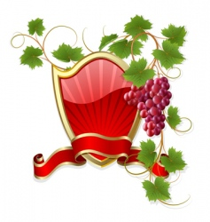 frame with vine vector image