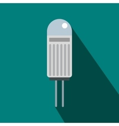 Halogen lamp icon flat style vector