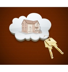 keys of dream house in the vector image vector image