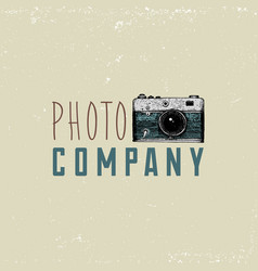 photo logo emblem or label video film movie vector image
