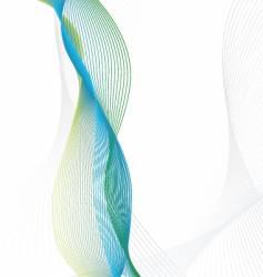 wavy line design vector image vector image