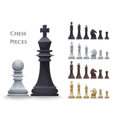 Chess Figures big set vector image vector image