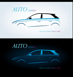 logo for car on a white background vector image vector image