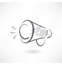 megaphone grunge icon vector image