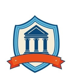 school emblem isolated icon vector image vector image
