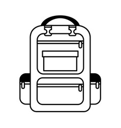 bag travel camping isolated icon vector image