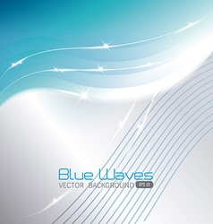 Blue waves design vector image