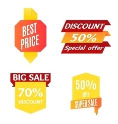 Color Sale Banner Set vector image vector image