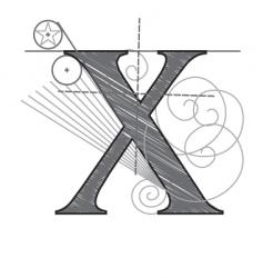 construction type x vector image vector image