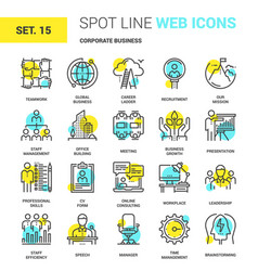 Corporate business icons vector