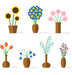 Flower flat colored vector image vector image