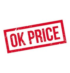 Ok Price rubber stamp vector image