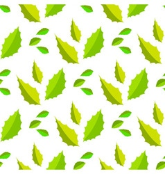 Seamless of light and dark green acute leaves vector image vector image