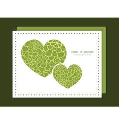 abstract green natural texture heart symbol vector image