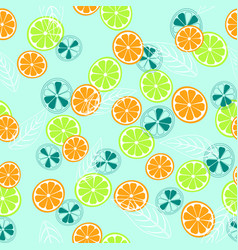 abstract pattern with lemon and orange vector image