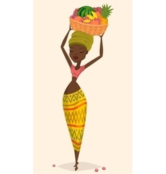 African woman farmer vector image