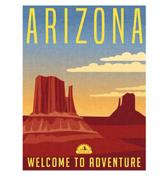 Arizona travel poster vector