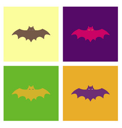 assembly flat icons halloween bat vector image