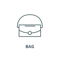 bag line icon bag outline sign concept vector image