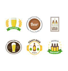 beer badges or labels set vector image