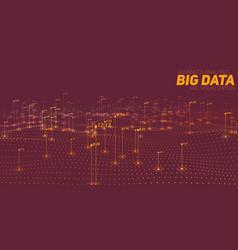 Big data brown plot visualization vector