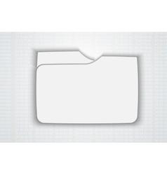 Blank folder vector image