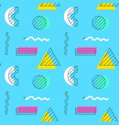 blue shape memphis seamless pattern vector image