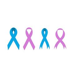 breast cancer ribbon icon design set bundle vector image