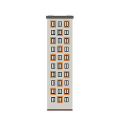 city multistorey apartment house front view vector image