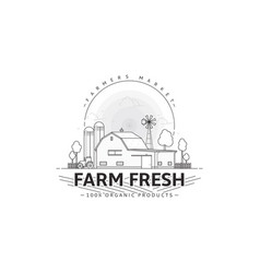 Farmers market logo template vector