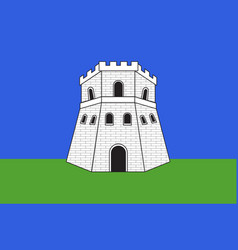 Flag bastia in haute-corse department of vector