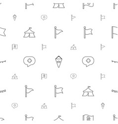 flag icons pattern seamless white background vector image