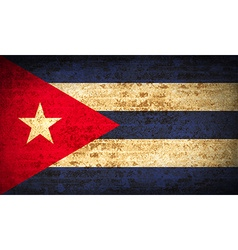 Flags Cuba with dirty paper texture vector image