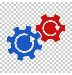 Gears Rotation Icon vector image vector image