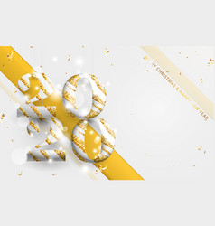 gold and white stripes 2020 golden garland vector image
