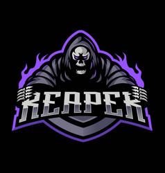 grim reaper logo vector image
