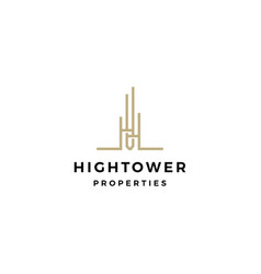 high building tower logo icon vector image